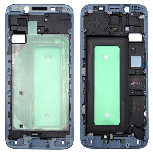 BEIJING  SCREENCOVER+ / Galaxy J730 Carcasa Delantera Marco LCD Placa Bisel, Reemplazo LCD Placa Placa ATRÁS BIELEL (Color : Azul)