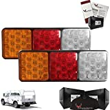Eagle Lights 8002 Rubbolite Generation II LED Rear Module Replacement (2 light modules included). These lights have 4 x 4 Lenses, Rubber Housing and are 12V and 24V compatible. 2 Lights included.