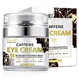 Thnkstaps Eye Cream 50 ml Crème pour les yeux à la caféine Crème anti-rides pour les yeux cernes Crème Contour des Yeux Naturelle Crème Contour des Yeux Anti-Âge Réduit les Rides Cernes