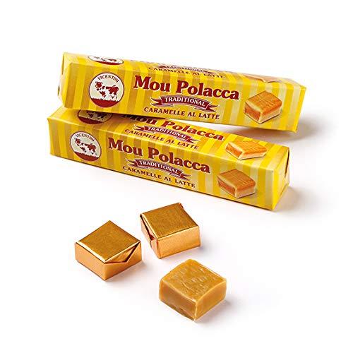 Caramelle Mou Polacche al Latte Tradizionali - 12 stick da 72 grammi l'uno