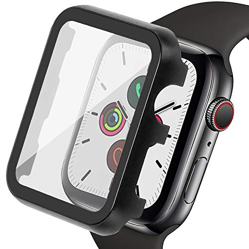 Ritastar for Apple Watch Screen Protector 44mm with Metal Cover Bumper Case with PET Film,High Sensitive...