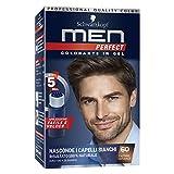 Schwarzkopf Men Perfect Colorante in Gel, Tinta Coprente Capelli Bianchi per Uomo, Risultato Naturale, Tonalità 60 Castano Naturale