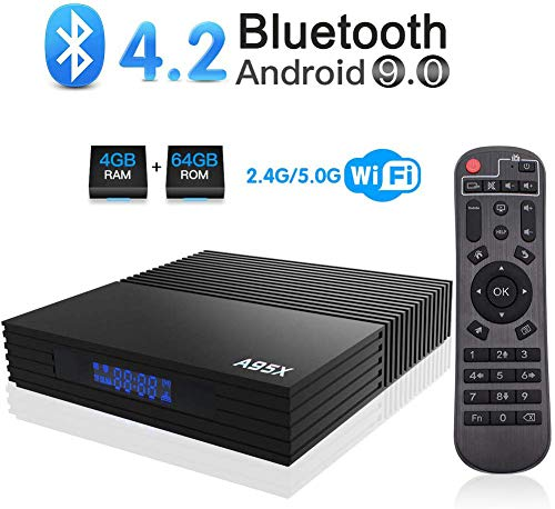 DOOK Android 9.0 TV Box Smart Media Box 4GB RAM 64GB ROM S905X3 Quad Core Bluetooth 4.2 WiFi 2.4G & 5G Ethernet USB 3.0 Set Top Box Support 4K Ultra HD Internet Video Player