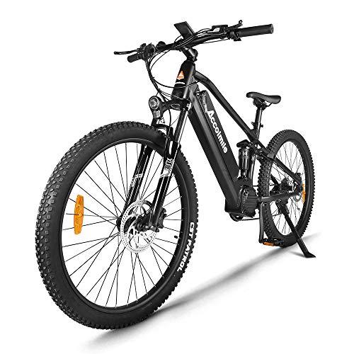 Accolmile Bicicleta de Montaña Eléctrica de 27,5 Pulgadas,