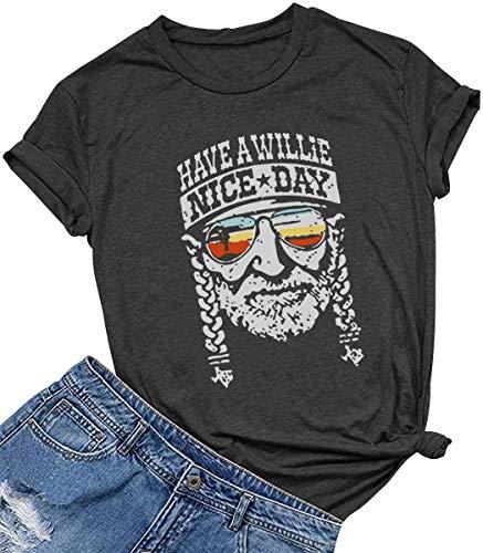 SALIFUN Pocket Shirts for Women Long Sleeve Crewneck Plaid Love Print Tee Tops Baggy Comfy Blouses Oversized Sweaters