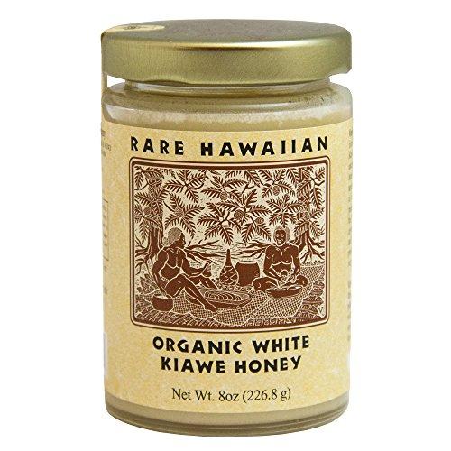 Rare Hawaiian Organic Kiawe White Honey (8-Ounce Jar)