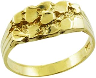 Nugget Rings Solid 10k Yellow Gold Polished Baby for Boys