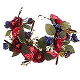 Handmade Adjustable Flower Wreath Headband...