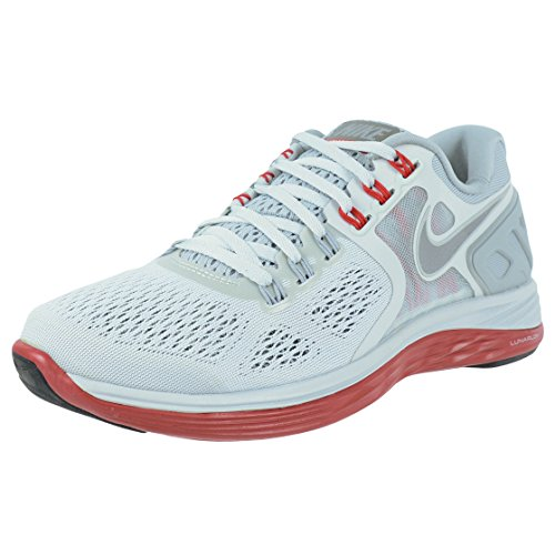 Nike Lunareclipse + 4 Men Sneaker LT Base Grey/Gym Red/Reflect Silver 629682-004 (Size: 9)