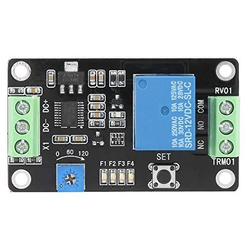 Relè temporizzato 5V 12V 24V Modulo relè temporizzato regolabile Modulo ritardo autobloccante Ritardo del controller Modulo on/off(DC12V)