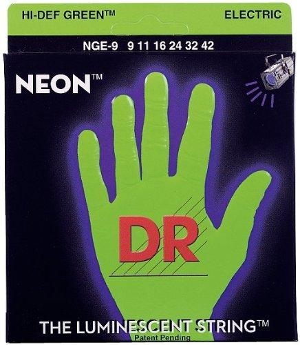 DR STRINGS - Farbige Gitarren Saiten - Neon Grün - 009 - 042