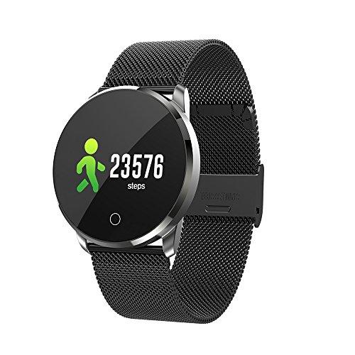 Ltongx Intelligentes Armband, Fitness-Tracker Bluetooth Call Reminder Fernbedienung Selbstauslöser Smart Watch, Activity Tracker, Kalorienzähler und Schlaf Monitor,Black