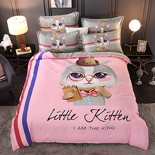 Chinese Style Printed Stripe Bedroom Home Textiles, Unisex Soft And Comfortable Machine Washable Quilt Cover And Pillowcase, Polyester Super Large Single And Double Bed