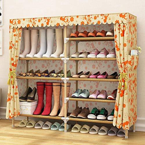 M-YN Zapatero Cubos de Almacenamiento de 6 gradas for 24 Pares de Zapatos Organizador de Estante for Zapatos de Almacenamiento de Calzado no Tejido Que Ahorra Espacio (Color : A)
