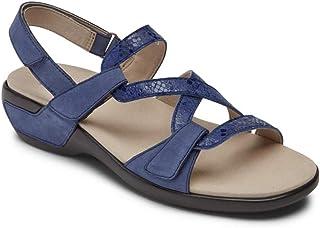 Aravon Women's Power Comfort S Strap Sandal Flat