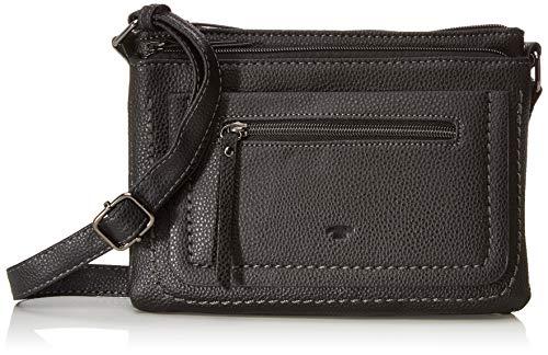 TOM TAILOR Umhängetasche Damen Becky, , Schwarz (Schwarz), 3x17x23 cm,, Damen Handtasche TOM TAILOR Handtaschen, Taschen für Damen, klein