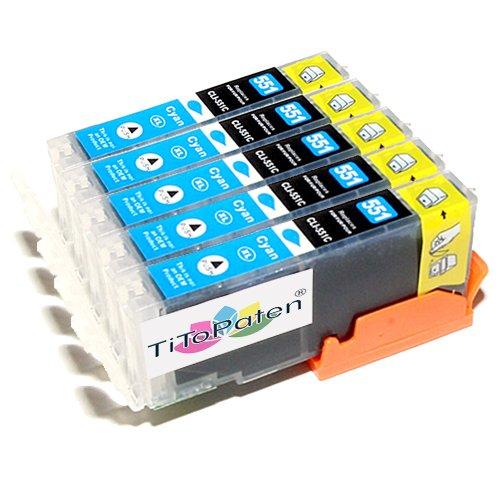 *TITOPATEN* - 5X Canon Pixma IP 7250 kompatible XL Druckerpatronen - Cyan - Patrone MIT CHIP !!!Hohe Laufleistung!!!