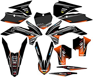 Senge Graphics kit compatible with KTM 2013-2014 SXF, Surge Black Graphics Kit