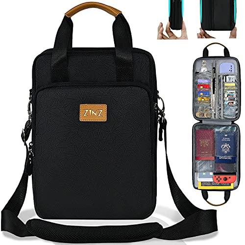 13 Zoll Laptop Umhängetasche Schlank und Erweiterbar Laptoptasche iPad Hülle Wasserfeste Reisepass Tasche Mehrzweck PC Crossbody Reiseveranstalter für Zubehör,...