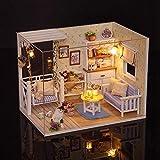 Smandy Miniatur Puppenhaus DIY Haus Kit Handgemachtes Gebäude Modell Kitten Hölzernes Puppenhaus...