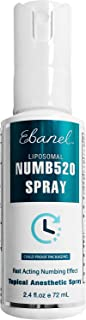 Ebanel 5% Lidocaine Topical Numbing Spray for Max Painkilling, 72ml Anesthetic Spray for Pain Relief, Help Reduce Pain Dur...