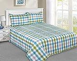 Trident Collection - Funda de cama de algodón con dos fundas de almohada