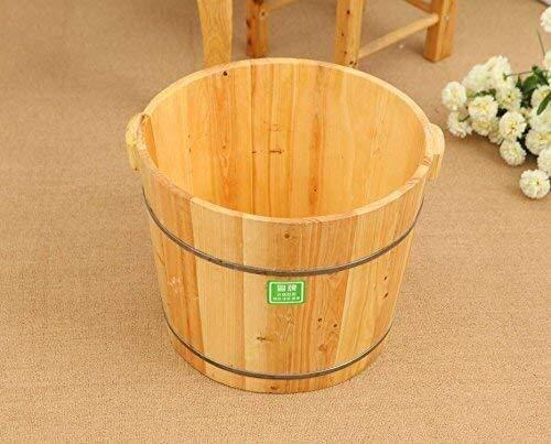 KHFFH Staande badkuip - Zedar voetbad SPA beglazing van houten schaal houten vat (platte bodem, hoogte 0,3 m)