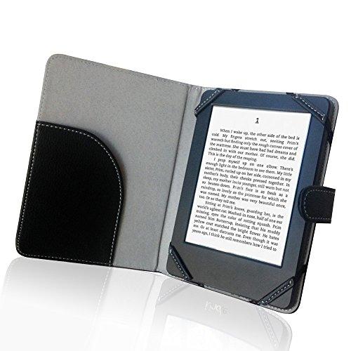 Enjoy-Unique - Custodia a libro in pelle PU per lettore ebook da 6 , per Sony   Kobo Pockbook Nook Tolino 6 , colore: Nero