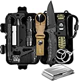 Gifts for Men Dad Husband Fathers Day from Daughter Wife Son, Survival Kit 12 in 1, Fishing Hunting Birthday Gift Ideas for Him Teenage Boy Cool Gadget, Emergency Camping Survival Gear and Equipment