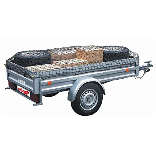 Alpin Anhängernetz, Ladungssicherungsnetz, Trailer Net, Gepäcknetz zur Ladungssicherung in schwarz, Größe:300 x 160 cm