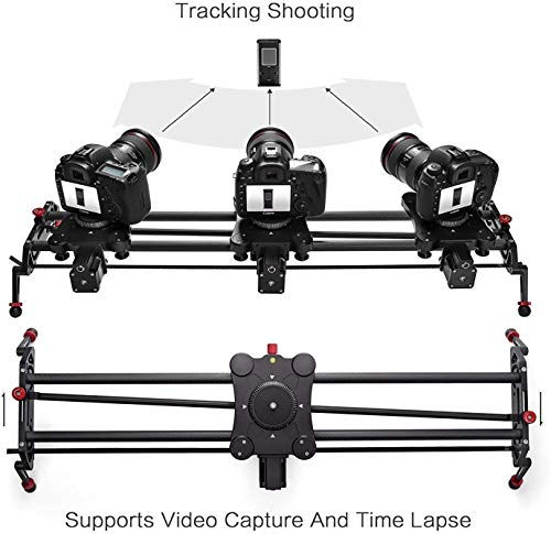 Camera Slider Track Dolly Slider Rail System with Motorized Time Lapse and Video Shot Follow Focus Shot and 120 Degree Panoramic Shooting 31
