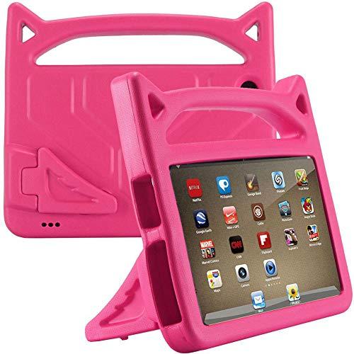 Hülle für Amazon Fire HD 8 Tablet (7th und 8th Generation – 2017 und 2018 Modell) - Colorful - Eva Stoßfeste Schutzhülle Tragbar für Kinder mit Standfunktion für Amazon Fire HD 8 2018/2017 (Hotpink)