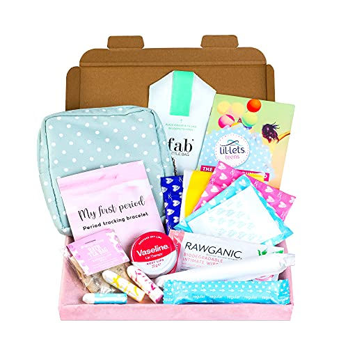 First Period Kit for Girls, Includes Small Panty Liners for Girls, Teen...