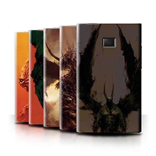 Oficial Chris Cold Carcasa/Funda/Case dura para el LG Optimus L3 E400 / serie: Criaturas Salvajes - 6pcs Paquete