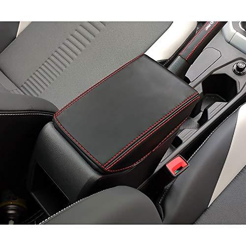 YEE PIN Armlehnen Abdeckung für POLO MK6 / SEAT Ibiza Typ 6F Hatchback/SEAT Arona SUV Mittelarmlehne Deckel Leder Schutzhülle Armlehnen Schutz Mittelkonsole Zubehör