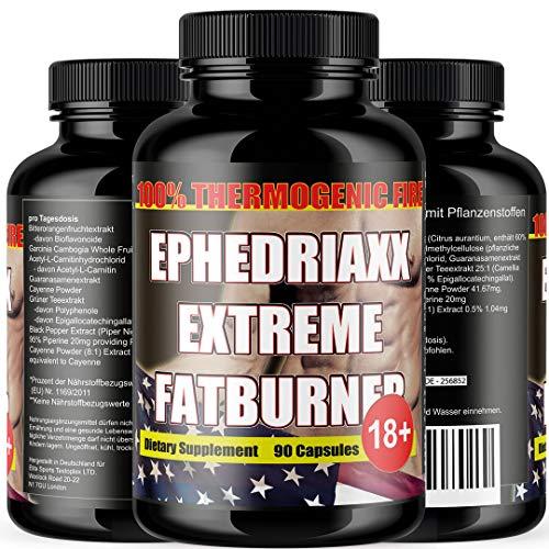 Ephedriaxx | Energie Booster | Brain Leistung Gedächtnis | 90 vegetarische Kapseln hochdosiert | Premium | Made in Germany mit Koffein | Citrus aurantium | Guarana | Carnitin | Grüner Tee