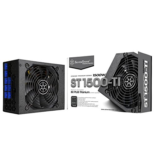 SilverStone Tek 1500 Watt ATX Power Supply with 80 Plus Titanium and Multi GPU Support SST-ST1500-TI