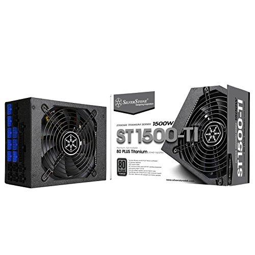 SilverStone Tek 1500 Watt ATX Power Supply with 80 Plus Titanium and Multi GPU Support SST-ST1500-TI
