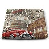 N/A - Cojines cuadrados para asiento de coche, diseño vintage de Roma Italia,...