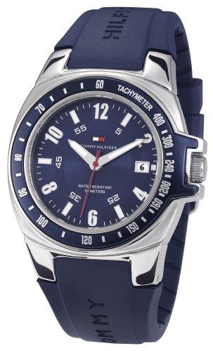 Tommy Hilfiger 1790483 - Reloj de Caballero de Cuarzo, Correa de Caucho Color Azul Claro
