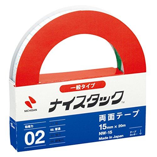 NICHIBAN Recycling-Papier doppelseitigen Klebeband NICETACK allgemeinen Typ 15mm x 20m Shinji NW-15 (Japan-Import)