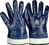 strongant guanti di sicurezza chemnitz blu nitrile, completamente spalmati. chimico e idrorepellente. guanto da lavoro universale guanti da giardino - taglia: 8