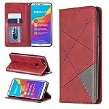 Étui de téléphone Portable Grande Rhombus Texture Retournement Horizontal Étui en Cuir...
