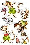 Partystrolche Tattoos * PETTERSSON & FINDUS * für Kinder und Fans // Kindertattoo Kindergeburtstag Geburtstag Mitgebsel