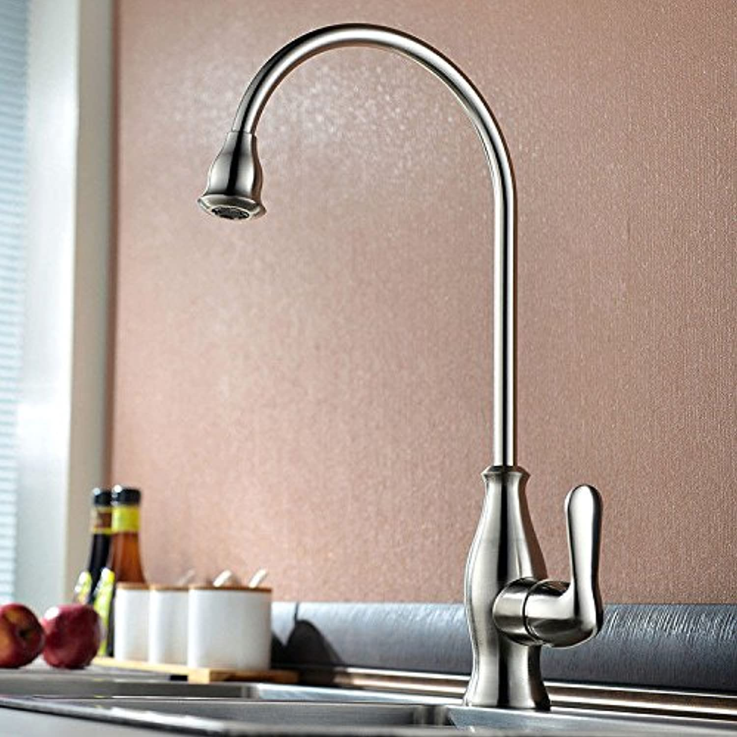 Gyps Faucet Basin Mixer Tap Waterfall Faucet Antique Bathroom Modern simple full copper hot and cold kitchen sink faucet kitchen faucet B as a whole. Bathroom Tub Lever Faucet