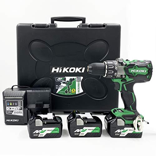HiKOKI(ハイコーキ)旧日立工機 36Vコードレスドライバドリル DS36DA(2XP) 蓄電池合計3個セット