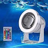 Projecteur Submersible à LED, Éclairage Sous-marin IP68 Étanche RGB, 10W...