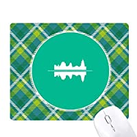 緑の格子のピクセルゴムのマウスパッド