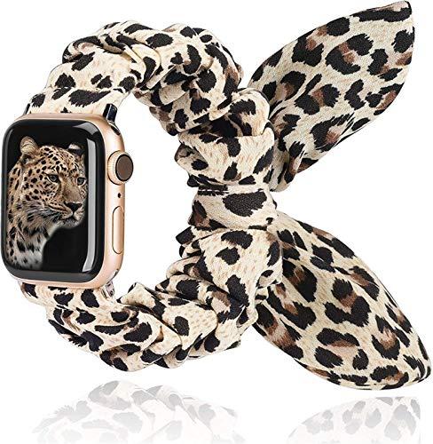 LWHAMA Lwwhama Toyouths Scrunchies Strap for Apple Watch 38mm / 42mm Bouthefly Bow Cloth 2020 Tela de Las Mujeres Correa de Tela para iWatch 5 4 3 2 1 40mm / 44mm