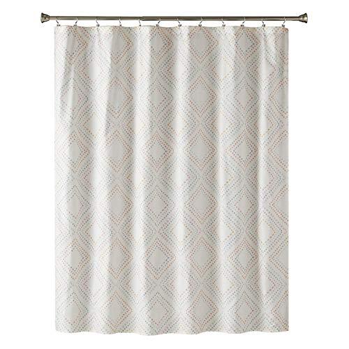 "SKL Home by Saturday Knight Ltd. Di Di Fabric Shower Curtain, Coral, 70""x72"""